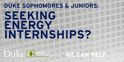 Duke University Energy Initiative Internships